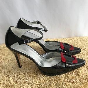 Calvin Klein Black/Red Heels